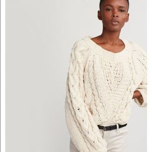 Cable knit boat sweater